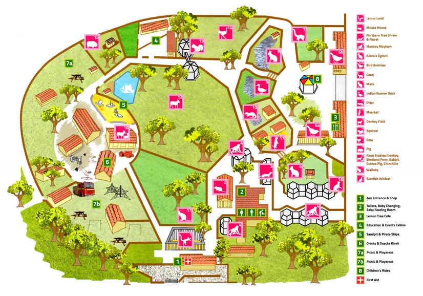 Zoo Map Battersea Park Childrens